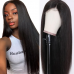 Stema 13x6 Lace Front Wig Brazilian Straight Lace Wigs Pre Plucked With Baby Hair Natural Color 150% & 180% Density Human Remy