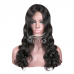 Stema Machine lace closure wig Human Hair Wigs 200% Density Body Wave(hair weave with closure)