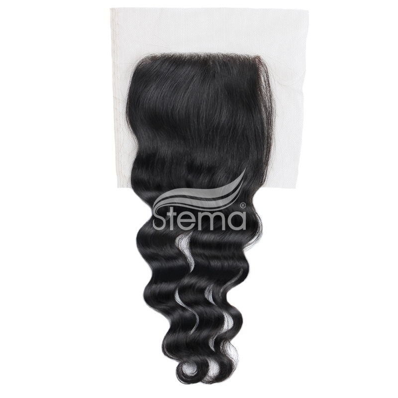 4X4 Lace Closure Peruvian Virgin Hair Natural Wave