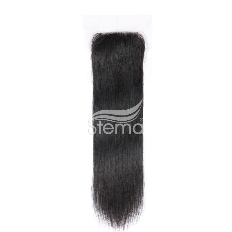 4X4 Lace Closure Indian Virgin Hair Straight