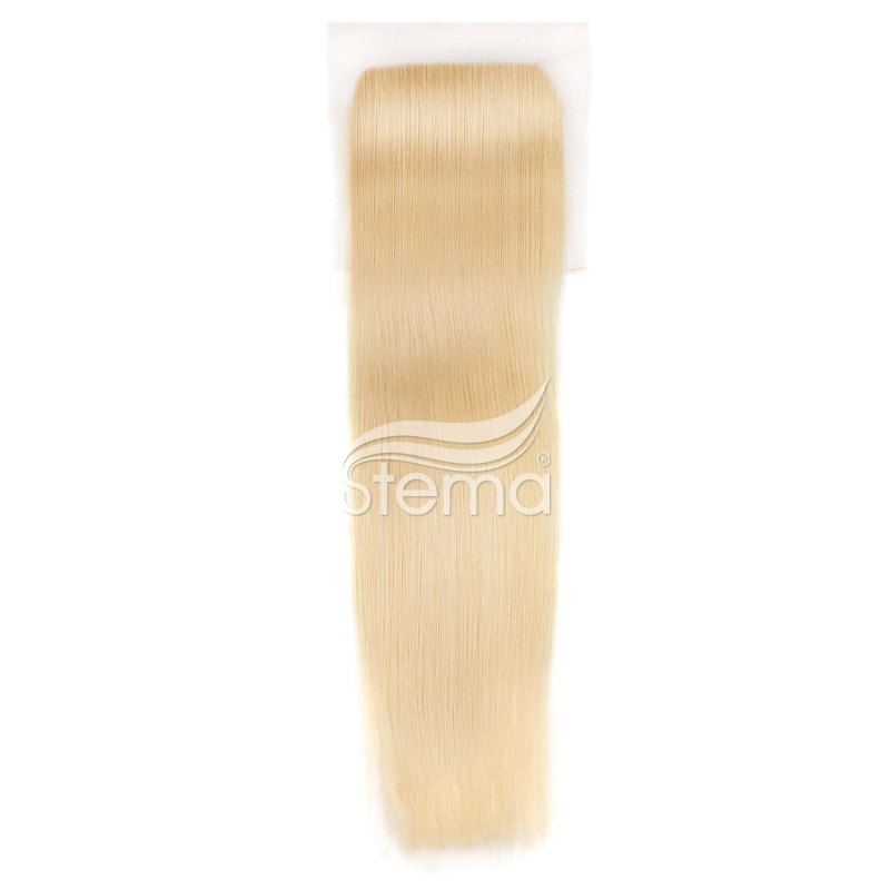 #613 blonde color 4x4 Lace Closure Virgin Hair Straight