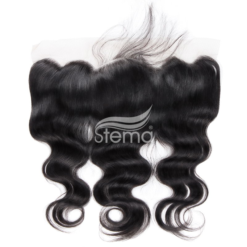 4x13 indian virgin hair body wave lace frontal closure
