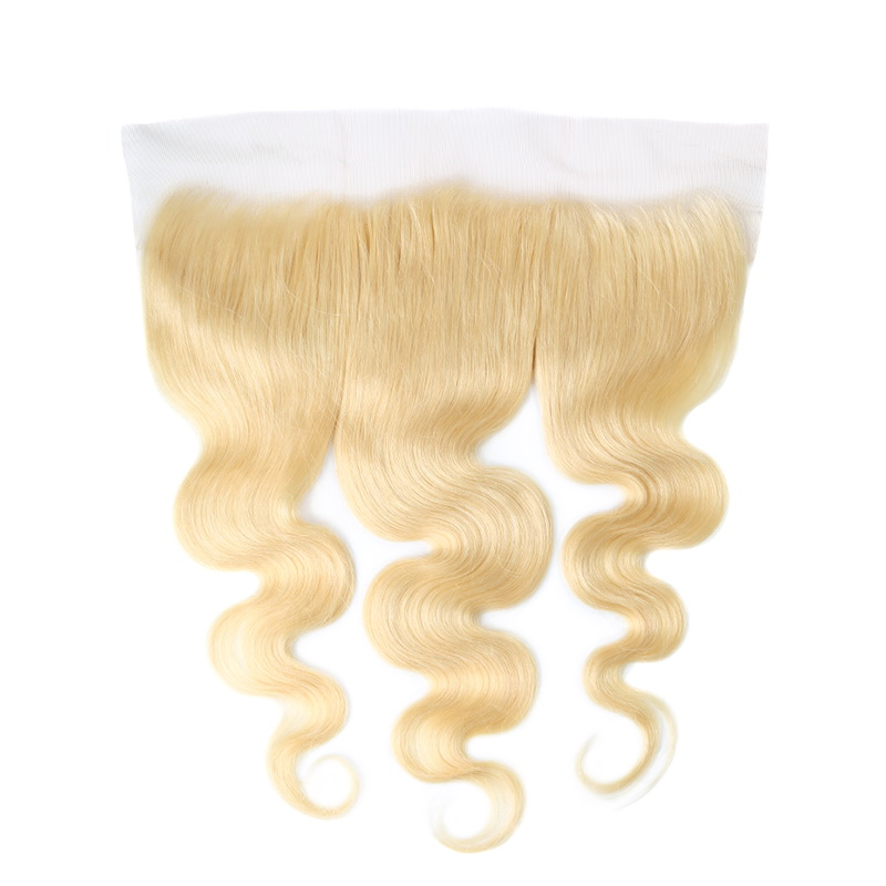 Stema Hair 613 Blonde Color 13x4 Lace Frontal Body Wave Virgin Hair