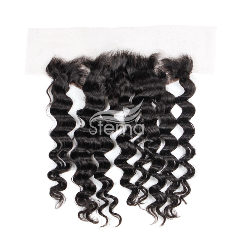 13x4 indian virgin hair loose wave lace frontal closure