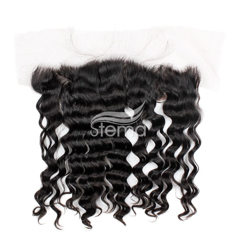 13x4 indian virgin hair natural wave lace frontal closure