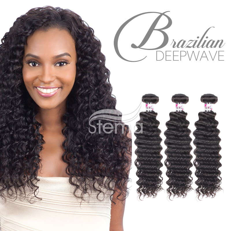 virgin brazilian deep wave curly human hair bundles