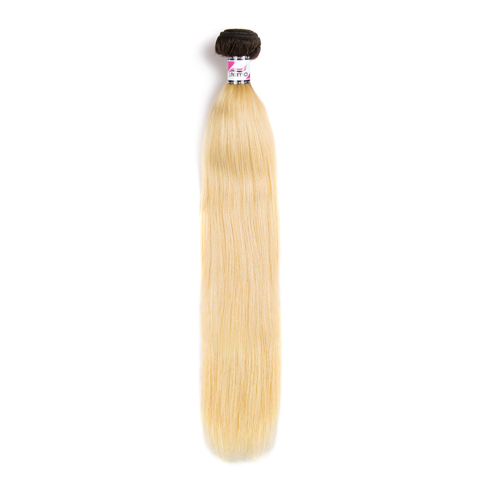 613 With Black Root Ombre Virgin Human Hair Natural Straight Bundles 1/3/4pcs