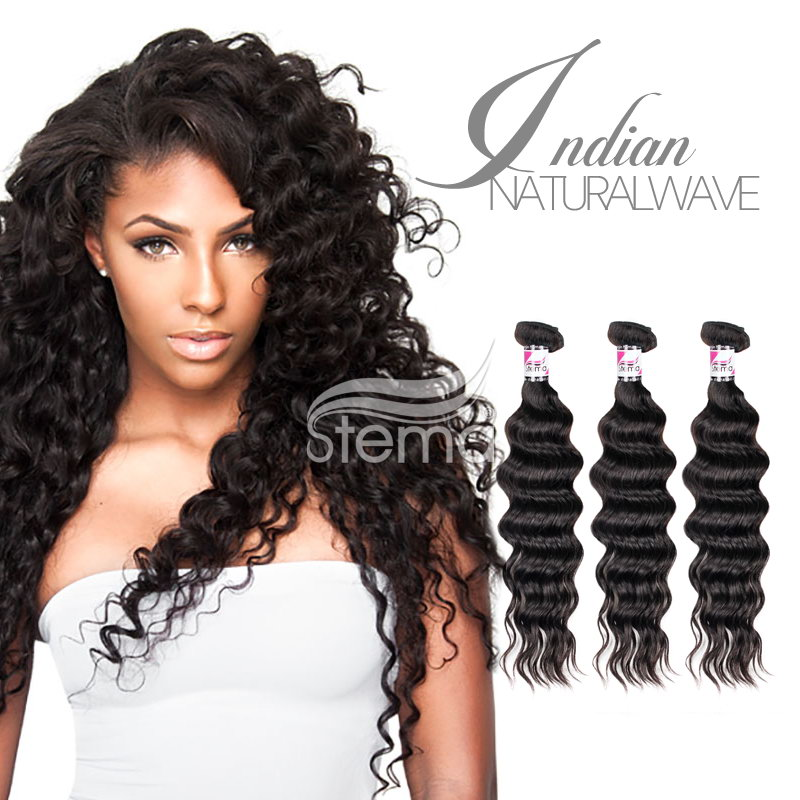 natural wave virgin indian human hair bundles
