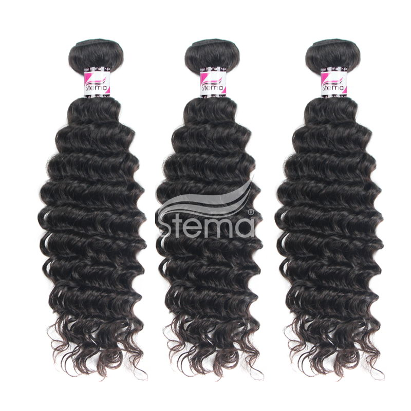 virgin malaysian hair deep wave curly bundles