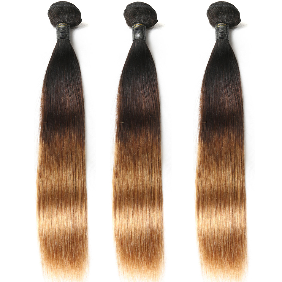 T1B/4/30 Ombre Color Hair Straight Weave Hair