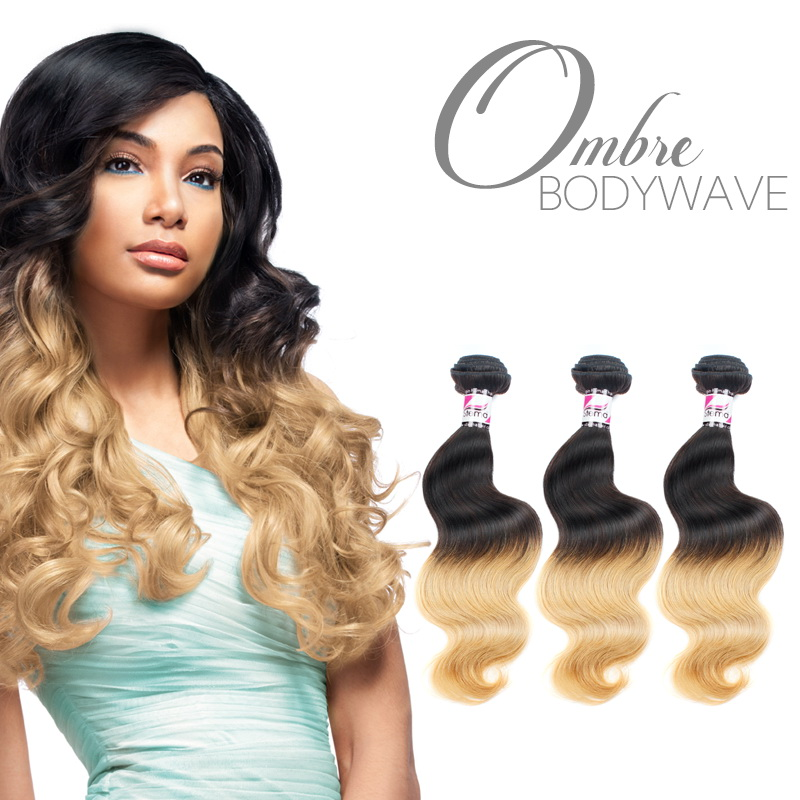 Black and Blonde #613 Virgin body wave Hair Weave Ombre Hair