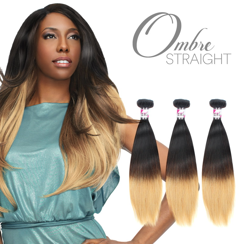 Black and Blonde #613 Virgin Straight Hair Weave Ombre Hair
