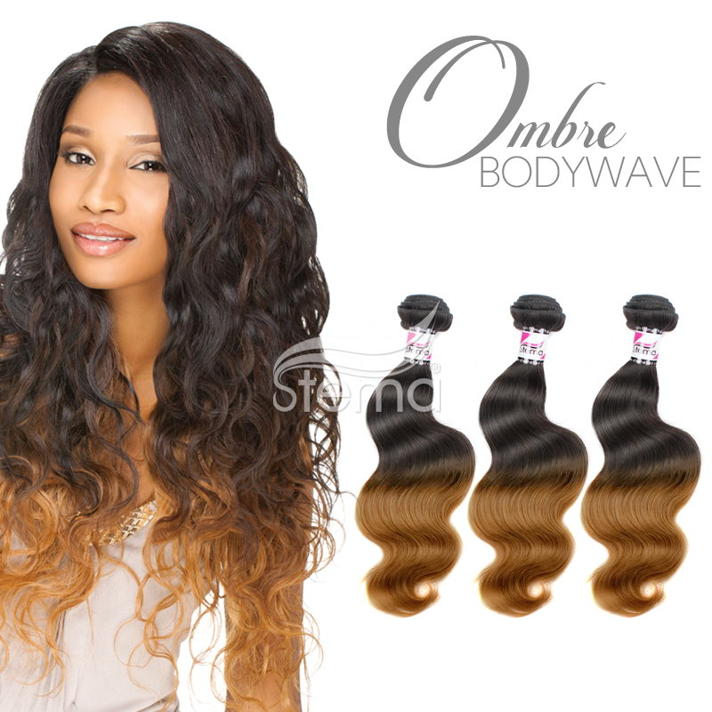 Virgin Body Wave Hair Weave Ombre Hair