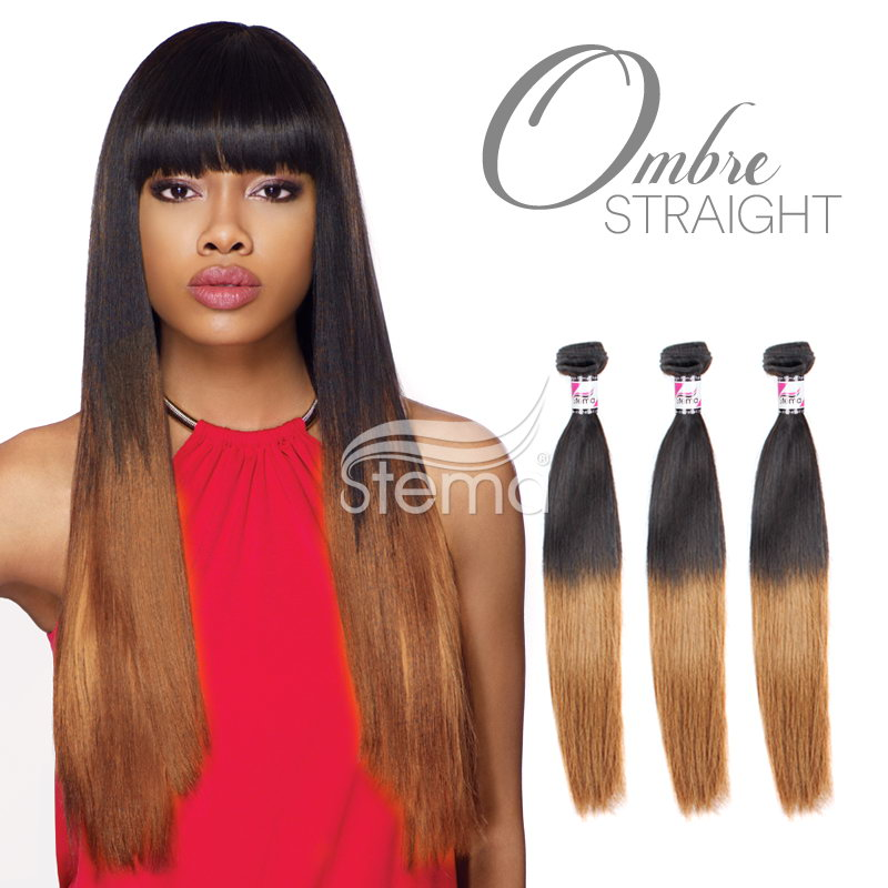 Virgin Straight Hair Weave Ombre Hair