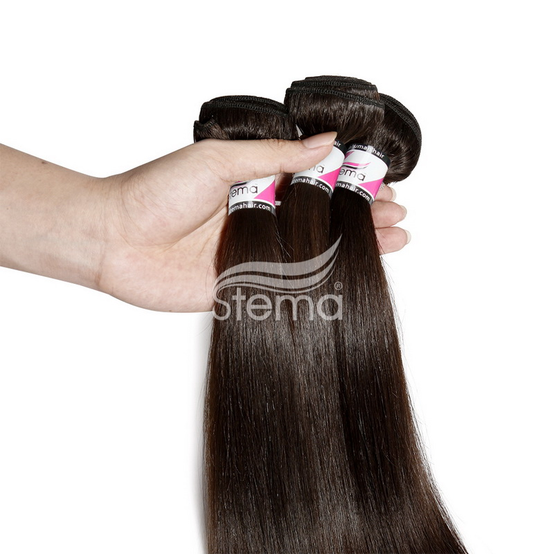 Stema Hair Big Promotion #1 Natural Black  Straight  Brazilian/ Malaysian/ Peruvian/ Indian Raw Hair