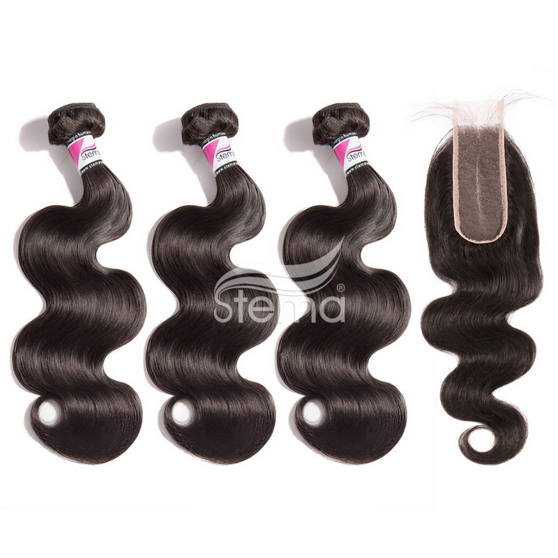 2 X 6 Lace Closure With Bundles Body Wave Brazilian/ Malaysian/ Peruvian/ Indian Virgin Hair