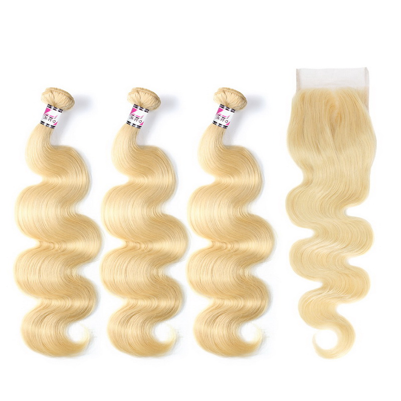 Stema Hair 613 Bundles Body Wave With 5x5 Lace Closure Virgin Hair