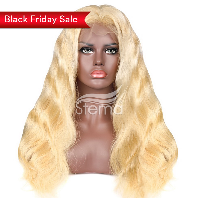 stema 360 lace front wig Hair Body Wave 613 Blonde 100% Human Hair 150% density