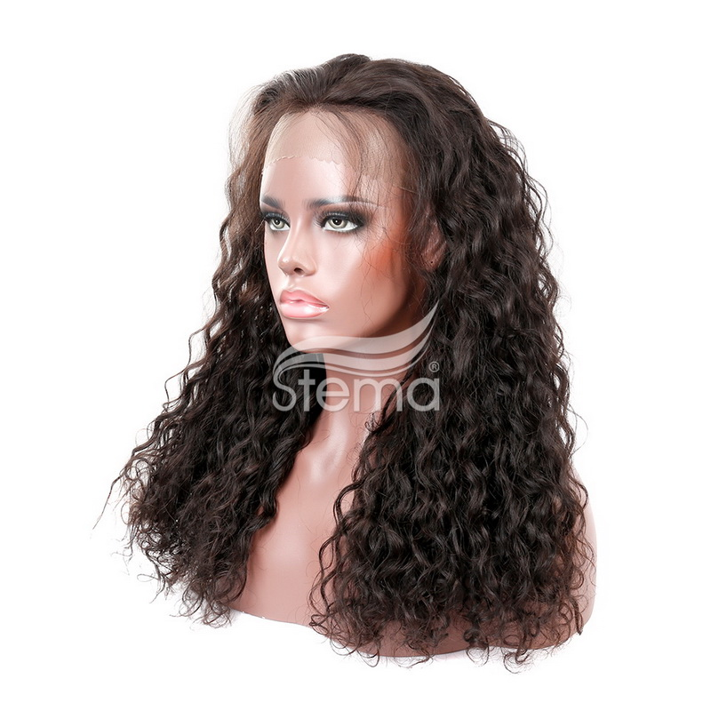 Stema Natural Wave 360 Lace Frontal Wig Pre Plucked With Baby Hair 180% Density Human Hair Wig