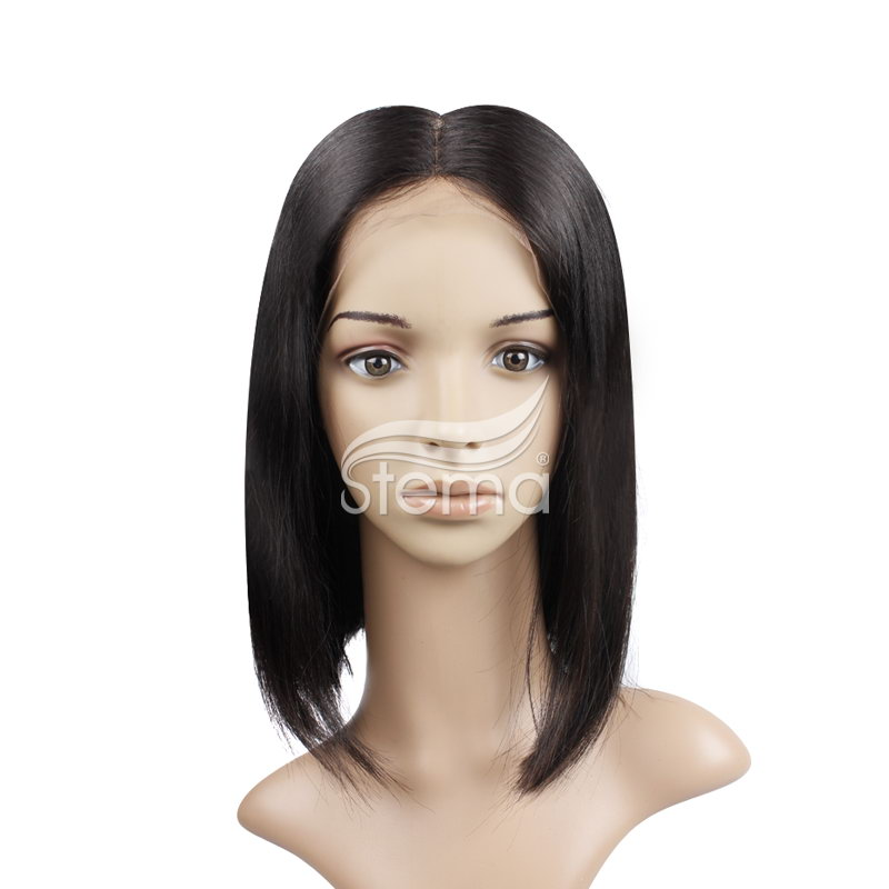 stema 13x6 Bob Lace Frontal Wigs With Middle Part Virgin Hair Straight