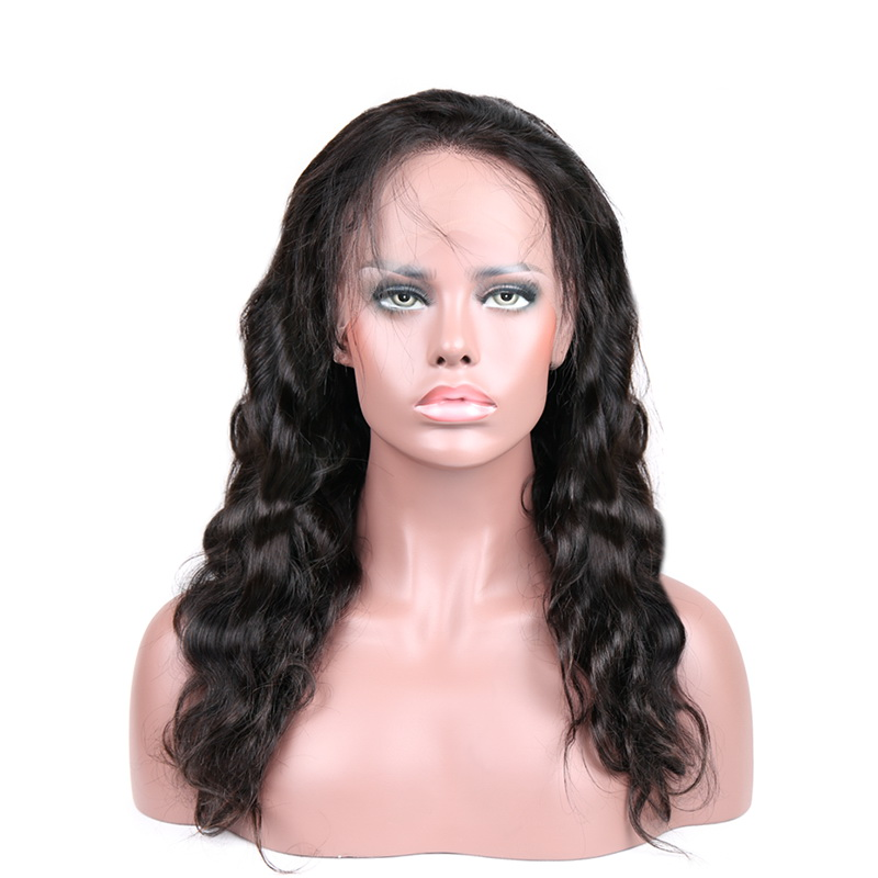Stema 10-26 Inch Body Wave Full Lace Wig Natural Color With Baby Hair Brazilian Remy Human Hair Wigs
