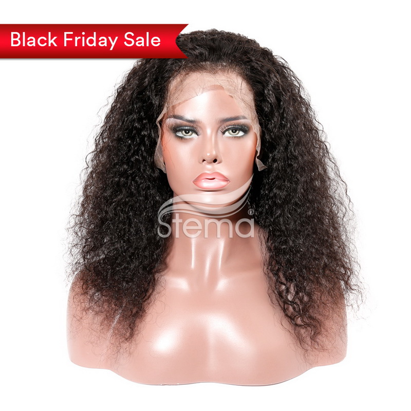 Stema Hair Full Lace Wig Brazilian Water Wave Lace Wig Pre Pluck With Baby Hair Natural Color 100% Remy Human Hair