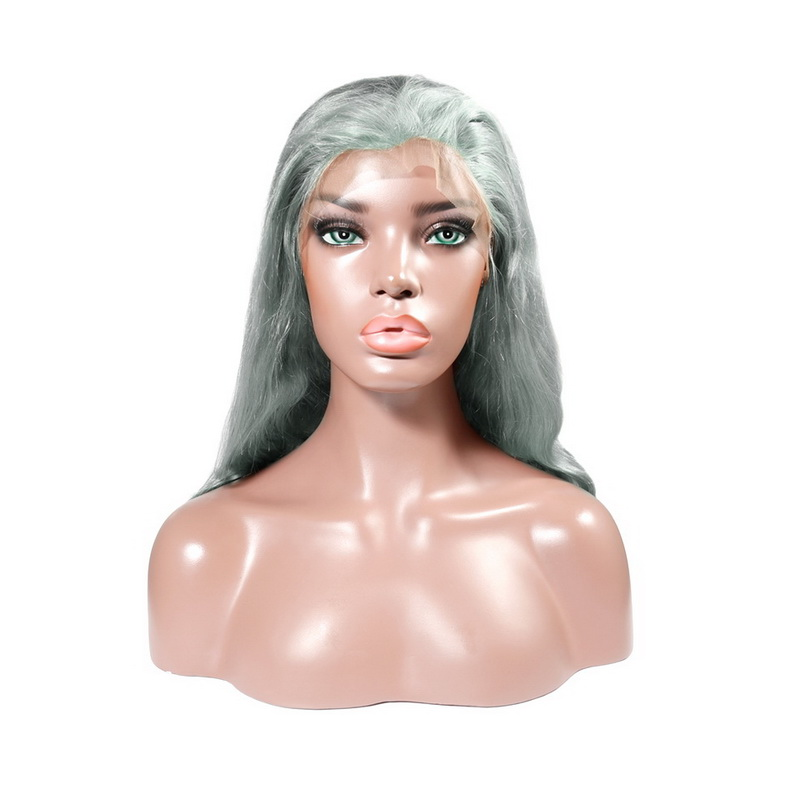 Stema Grey/Silver Color Lace Frontal Wigs Body Wave Virgin Hair