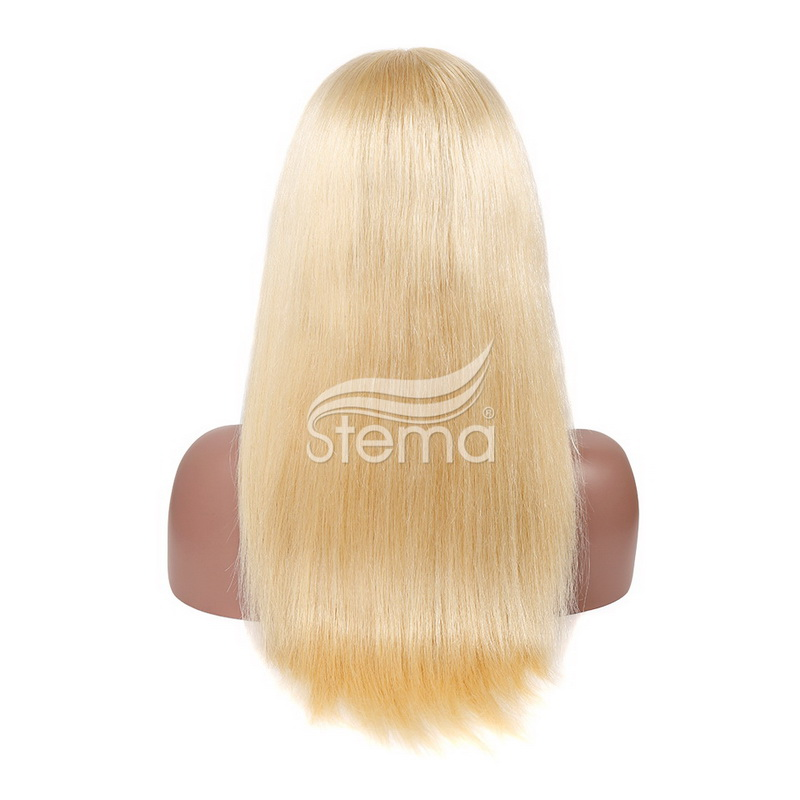 Stema  613 Blonde Straight & Body wave Virgin Human Hair Lace Front Wig with Baby Hair glueless Wigs