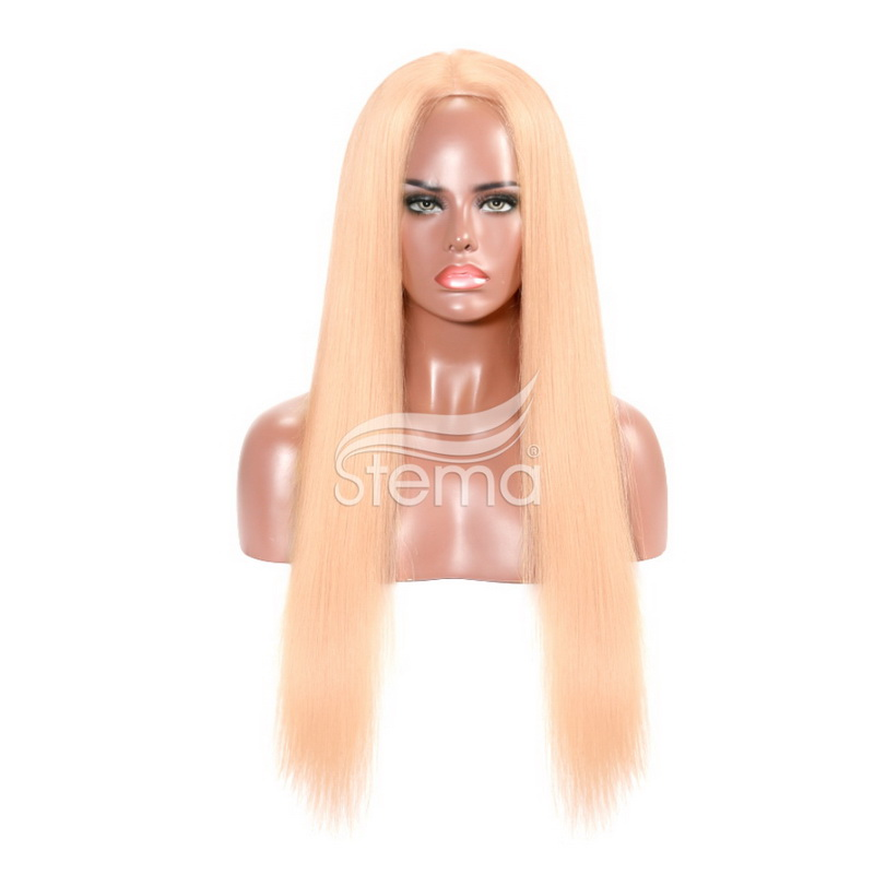 Stema Lace Front Human Hair Wigs 150% density Pre Plucked For P4/613 Brazilian Straight Remy Hair