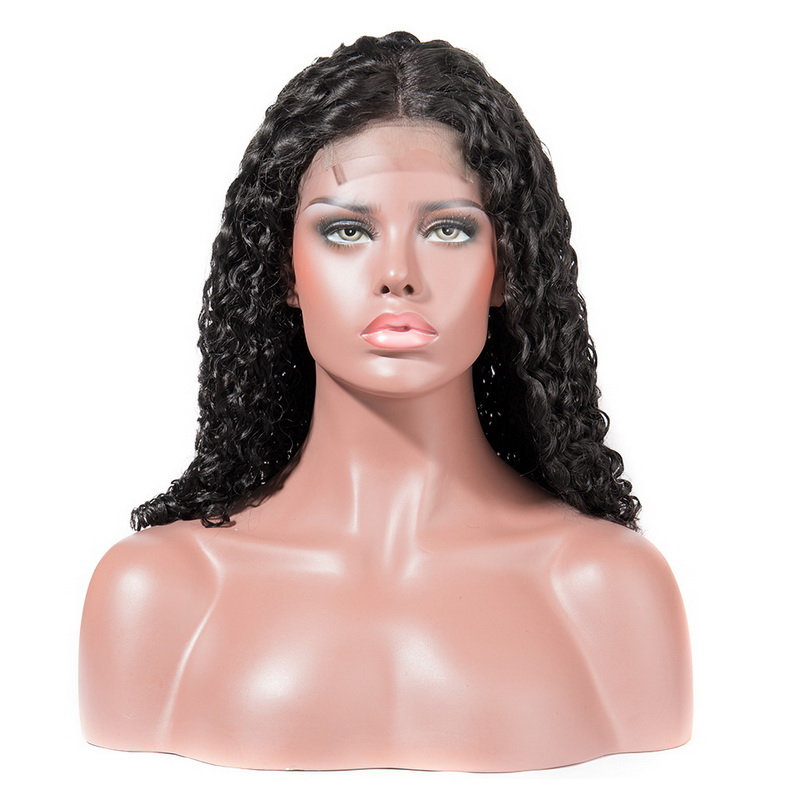 Stema Nature Wave Machine lace closure wig 150% Density Human Hair (hair weave with closure)