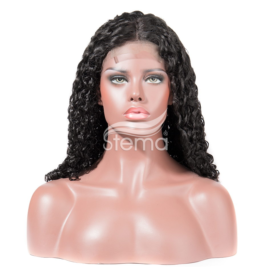 Stema Nature Wave Machine lace closure wig 250% Density Human Hair (hair weave with closure)