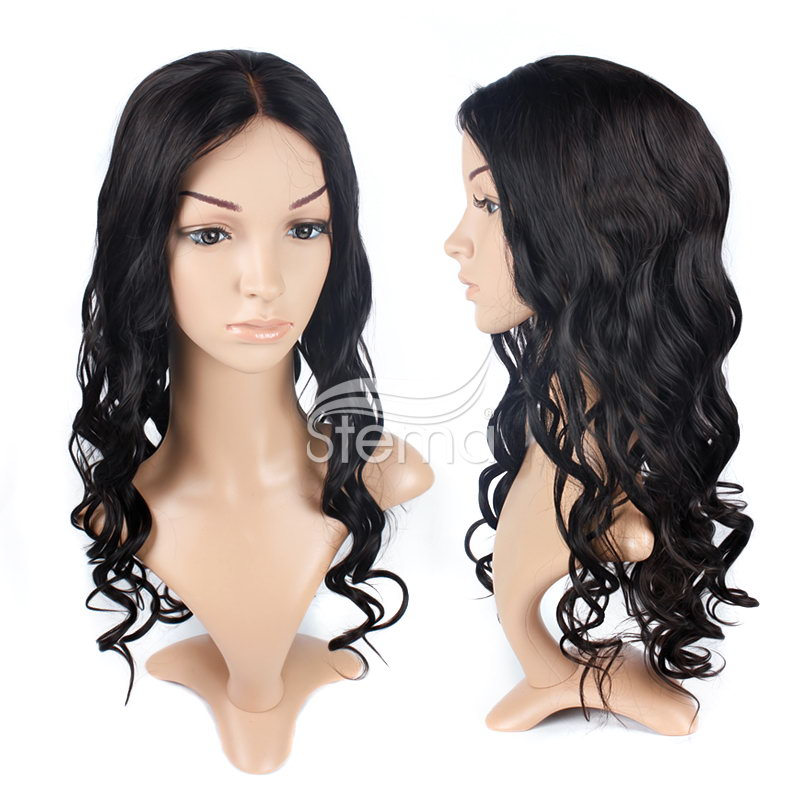 stema #1B 2 x 4 Body Wave Lace Front Wig Virgin Hair Wig 100% Human Hair
